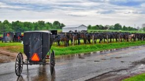 Preparing an Amish home for church