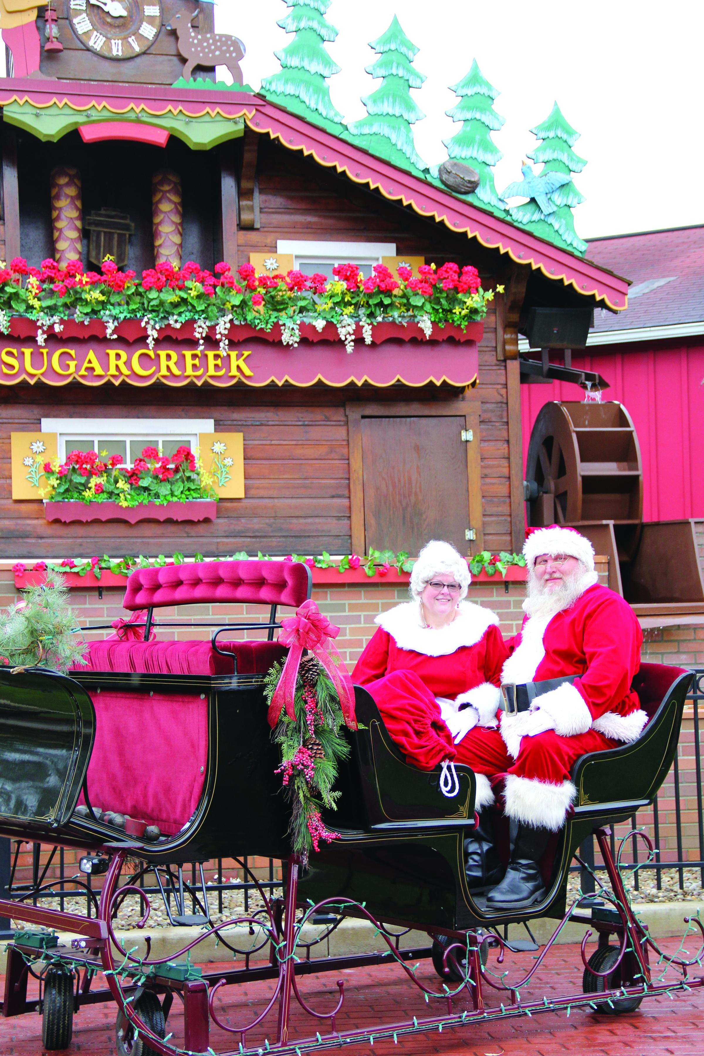 Light Up Sugarcreek with santa