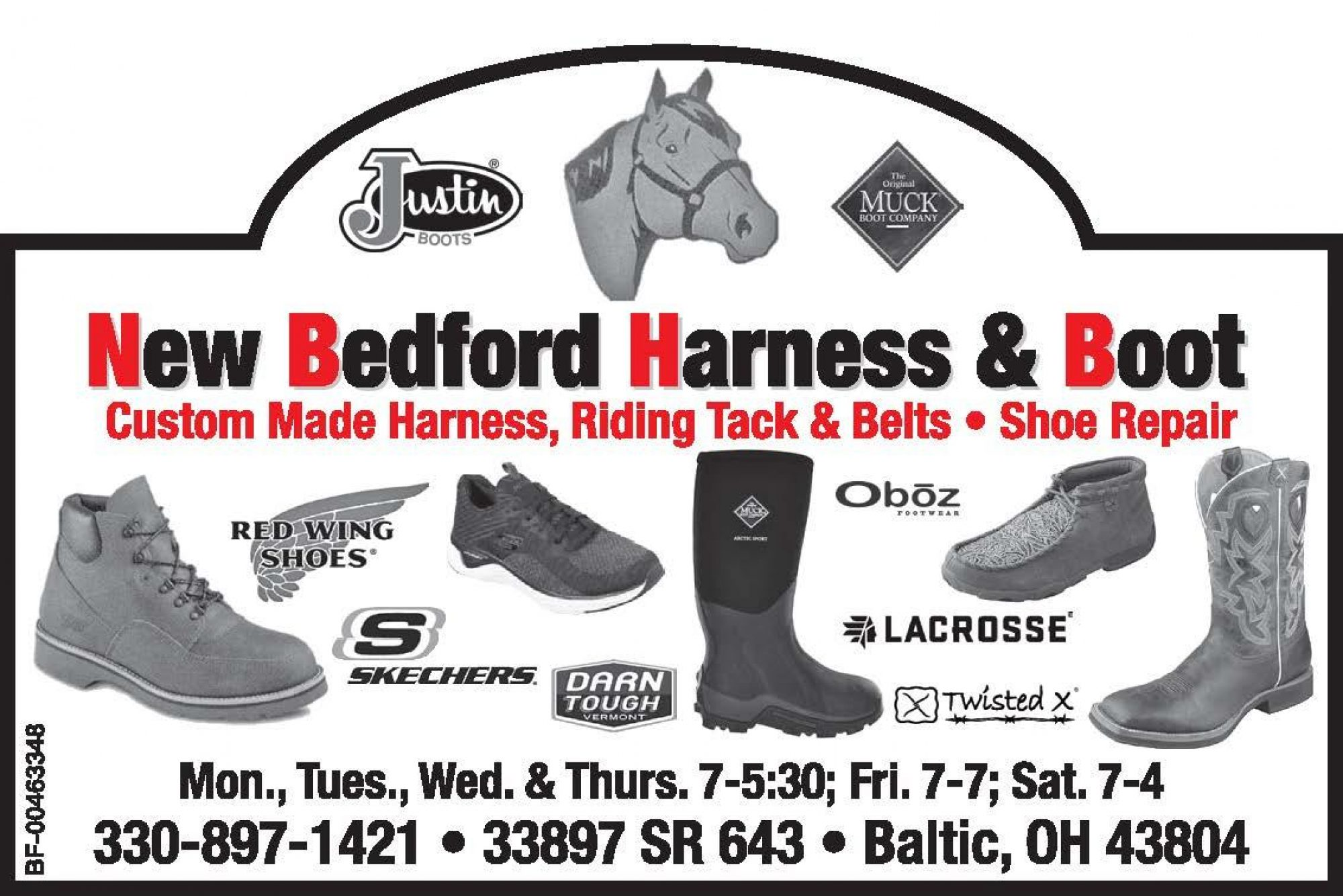 New Bedford Harness & Boot Ohio Amish Country  Ohio's Amish Country