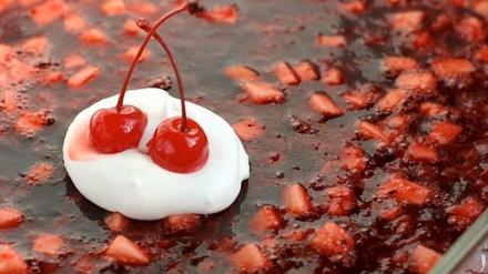 Festive Cranberry JELL-O Salad