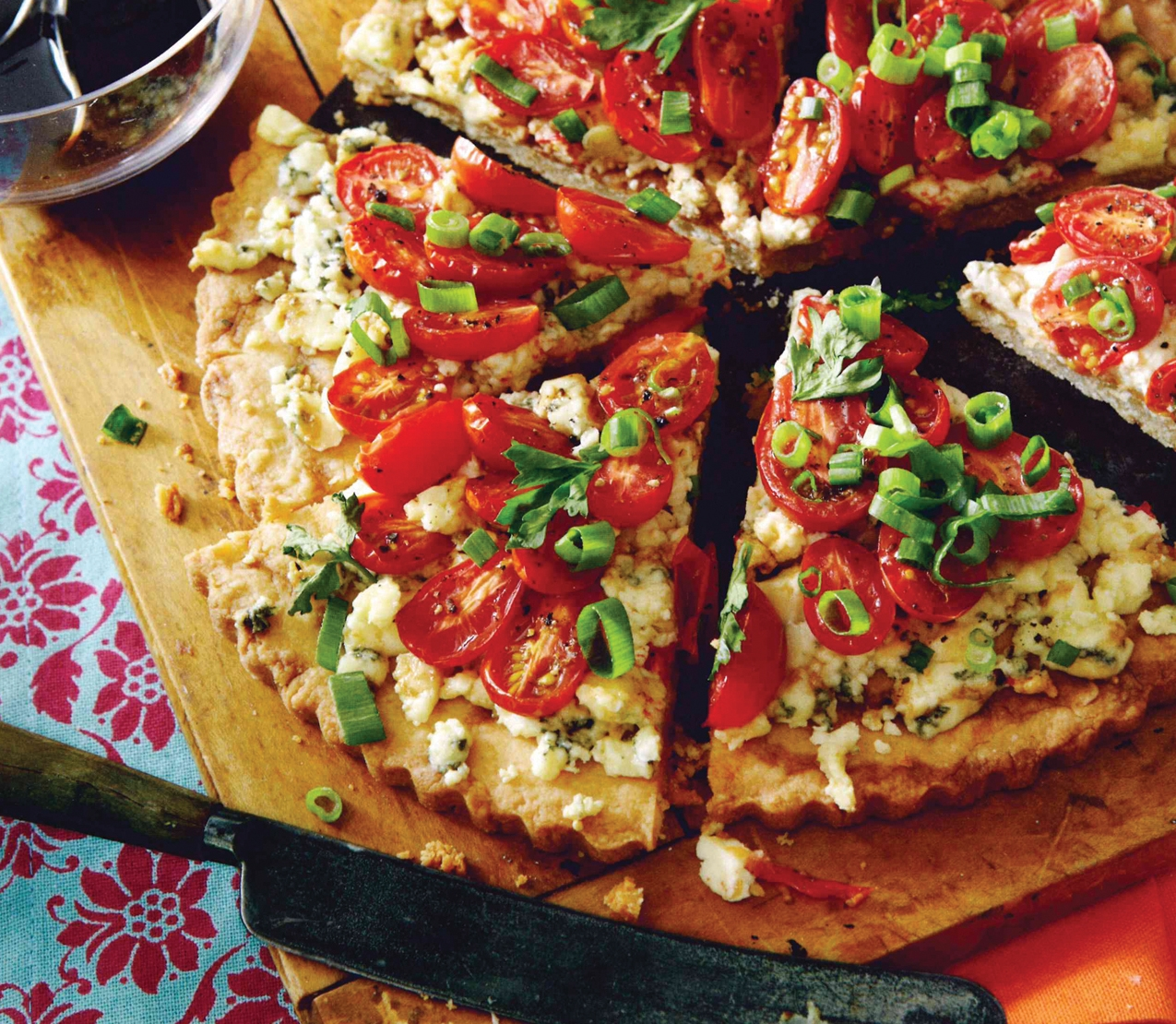Grape Tomato and Blue Cheese Tart
