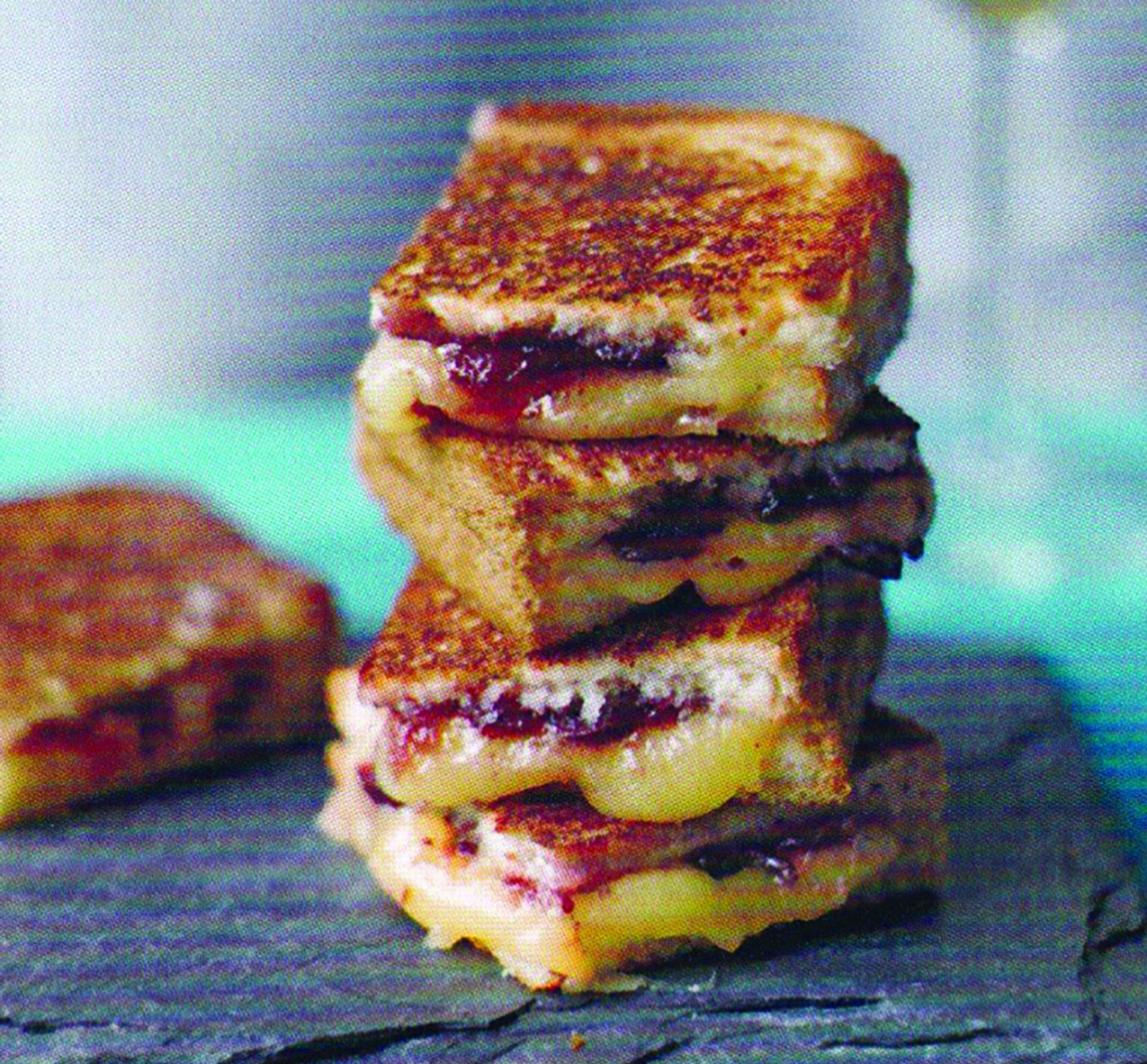 Mini Grilled Cheese and Chutney Sandwiches