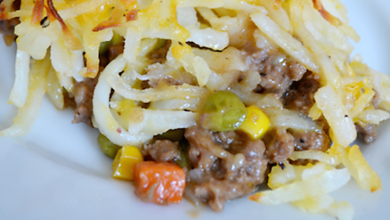 Hashbrown Hamburger Casserole