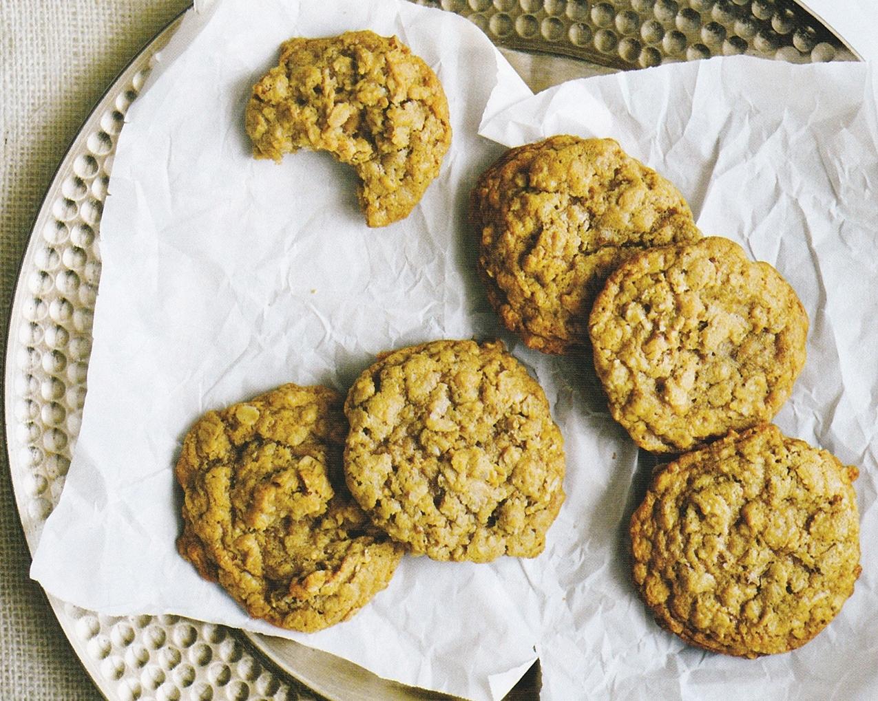 Pecan Toffee Oatmeal Cookies