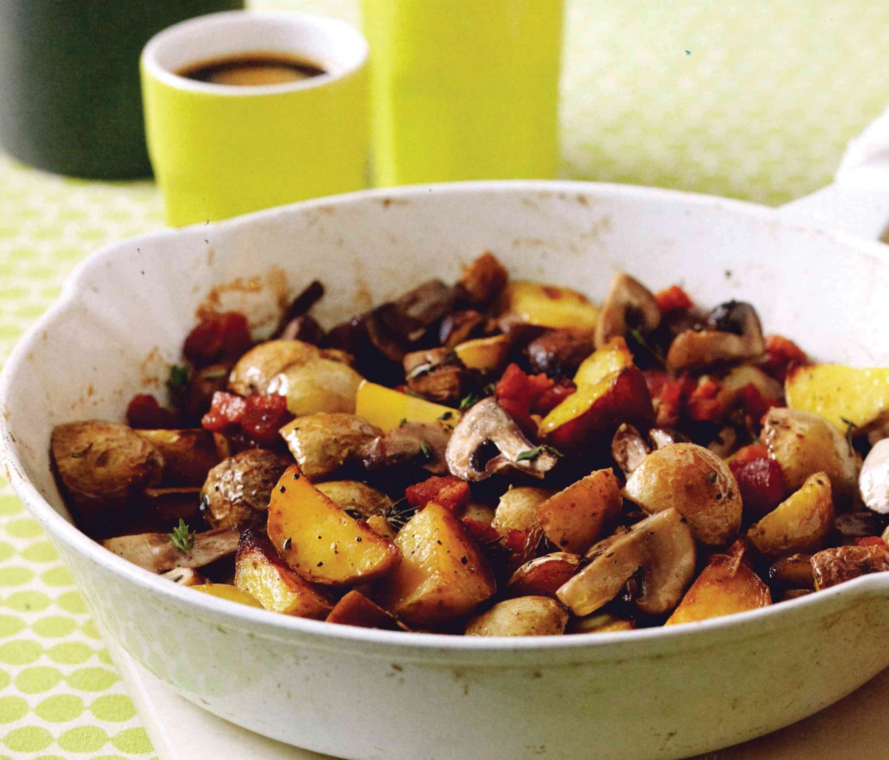 Skillet-Roasted Potatoes with Mushrooms and Pancetta