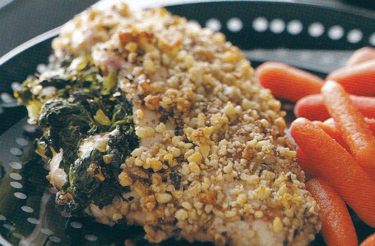 Spinach-Walnut Stuffed Chicken