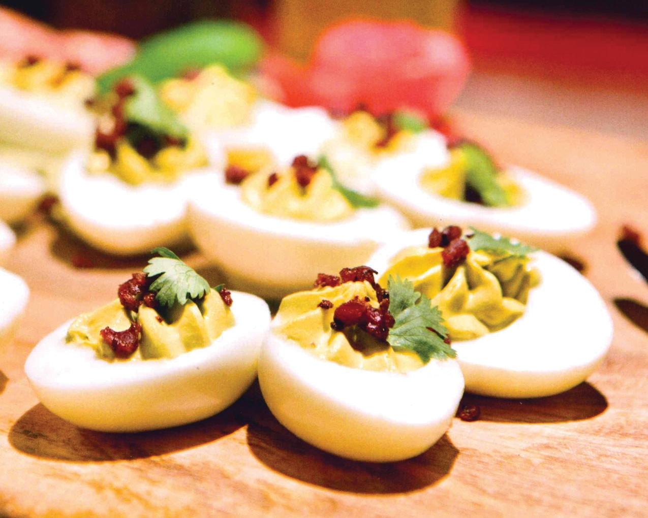 Spicy Picnic Deviled Eggs
